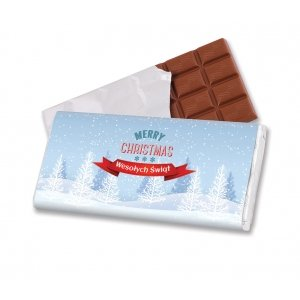 100 g chocolate in label