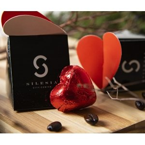 Box with chocolate heart