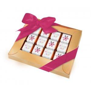 Świąteczna ramka na 12 czekoladek mini sztabek