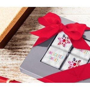Świąteczna ramka na 4 czekoladki kwadratowe