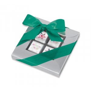 Świąteczna ramka na 4 czekoladki mini sztabki