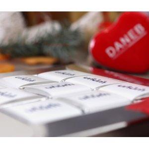 Walentynkowa ramka na 9 czekoladek mini sztabek