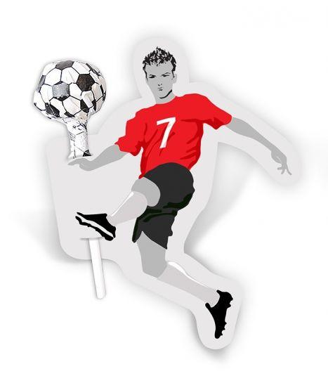 Lollipop with a footballer