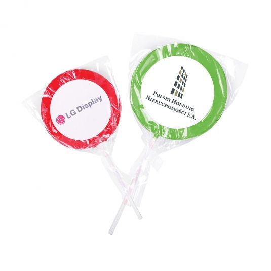 Lollipops with a sticker