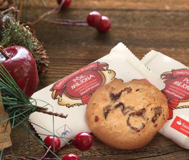 Świąteczne słodycze reklamowe - ciasteczko z czekoladą